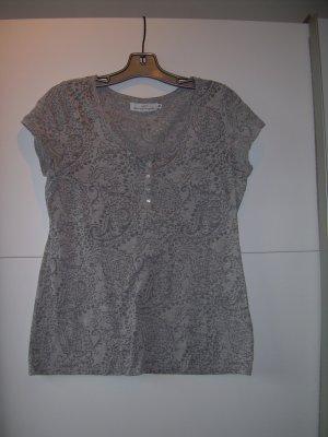 graues T-Shirt mit schönem Paisley-Muster von H&M Gr. 40