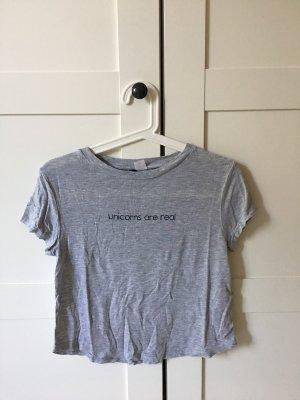 H&M T-shirt grijs-zwart