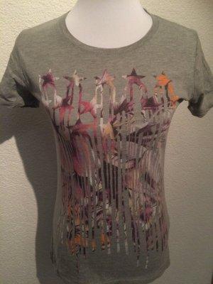 graues T-Shirt / Shirt mit Sternen von Converse All Star - Gr. S