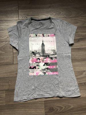 Atmosphere Shirt met print zilver Katoen