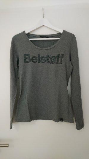 graues T-Shirt von Belstaff mit Logoprint