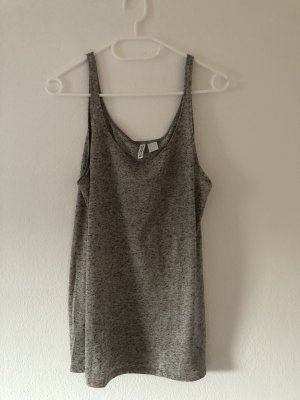 H&M Tank Top grey-silver-colored
