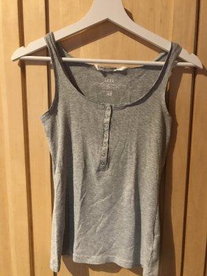 H&M Geribd shirt lichtgrijs