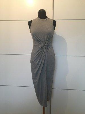 Graues Topshop Kleid in Wickeloptick