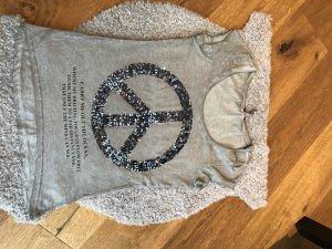 Graues Tshirt mit Pailletten von Key Largo