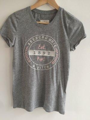 Graues Tshirt von Abercrombie & Fitch in Größe M