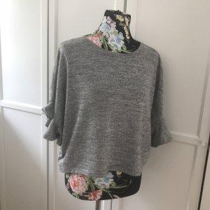 Mango Oversized shirt lichtgrijs-grijs