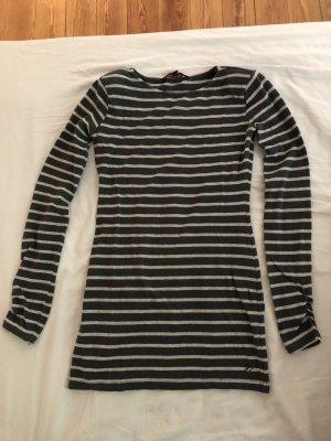 Tom Tailor Denim Camisa larga gris antracita-gris claro