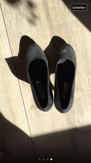 Grauhe Schuhe glitzer gr 39