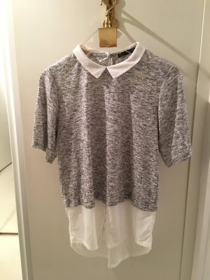 Atmosphere Short Sleeved Blouse white-silver-colored polyester
