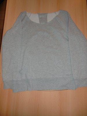 Esprit Kraagloze sweater lichtgrijs Gemengd weefsel