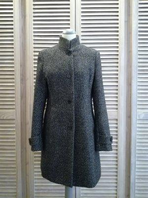Graumelierter Mantel mit Wolle