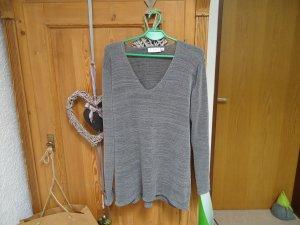 graumelierter Pullover H&M L