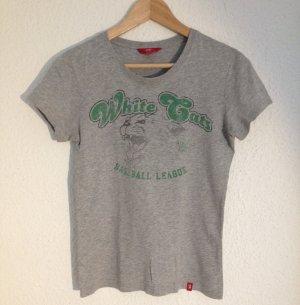 Graumeliertes T-Shirt mit Print