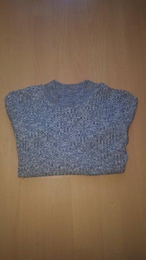 Graumellierter Pullover