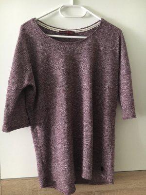 Grauvioletter dünner Pullover Tom Tailor denim