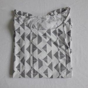 Grauweiß gemustertes T-Shirt OPUS 38
