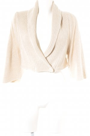 Grazia'lliani Soon Knitted Bolero cream loosely knitted pattern casual look