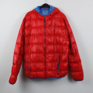 Down Jacket red-blue mixture fibre