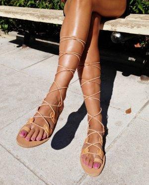 Ancient greek sandals Spartiate multicolore cuir