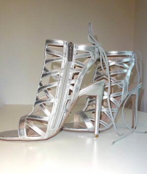 Carven High Heel Sandal silver-colored imitation leather