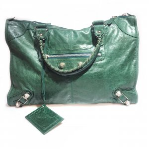 Balenciaga Bolsa de hombro verde