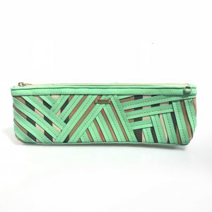 Green  Burberry Clutch