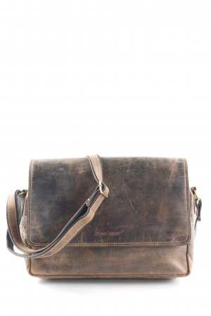 Green Burry Messengerbag dark brown urban style