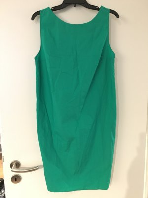 Green Cotton Dress with Twist Back