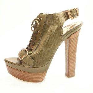 Emilio Pucci High-Heeled Sandals khaki