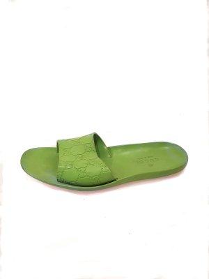 Green  Gucci Flip Flop