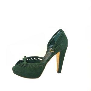 Gucci High-Heeled Sandals green