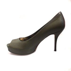 Gucci High-Heeled Sandals khaki