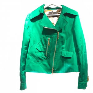 Green  Roberto Cavalli Trench Coat