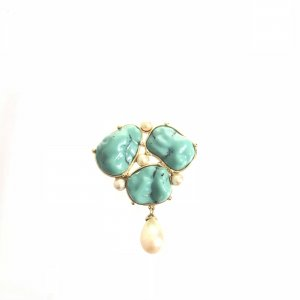 Yves Saint Laurent Broche verde