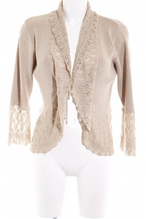 GreenHouse Cardigan beige meliert Casual-Look