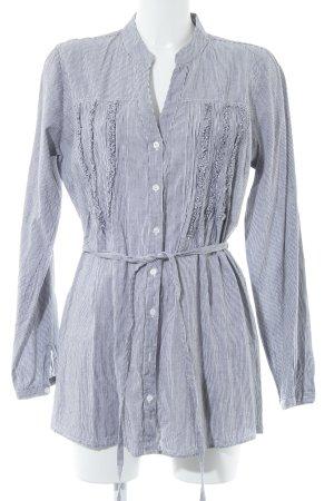 GreenHouse Long-Bluse schwarz-weiß Streifenmuster Casual-Look