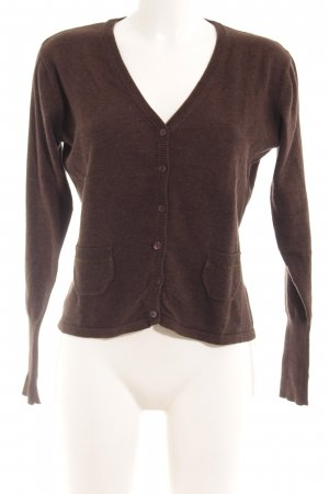 GreenHouse Strickjacke braun meliert Casual-Look