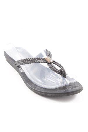 Grendha Flip Flop Sandalen schwarz abstraktes Muster Street-Fashion-Look