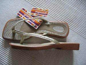 GRENDHA Sandalen, Flip Flops, Gold, edel NEU