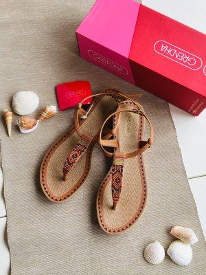 Grendha Toe-Post sandals brown