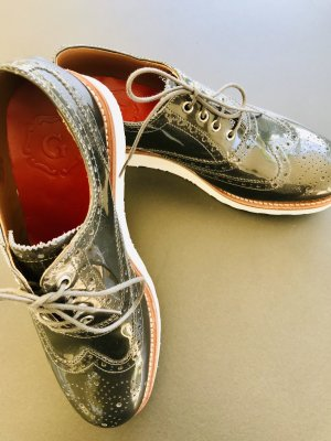 Lace Shoes grey leather