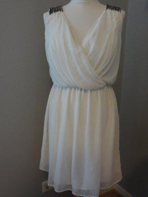 Zara Trafaluc Chiffon jurk wit Polyester