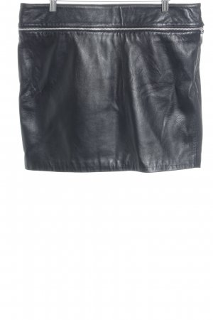 GRIGIO YOUNG Leather Skirt black street-fashion look