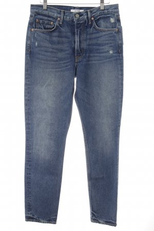 GRLFRND Slim Jeans blau Destroy-Optik