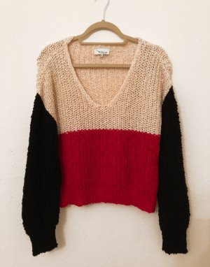 Twintip Pull en crochet multicolore coton