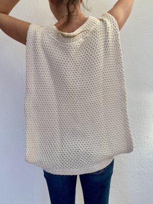 Zara Cardigan lungo bianco-bianco sporco