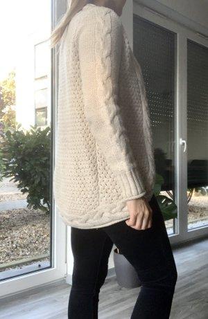 Gina Tricot Cárdigan de punto grueso blanco puro-crema