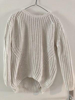 Mango Suit Pull à gosses mailles blanc