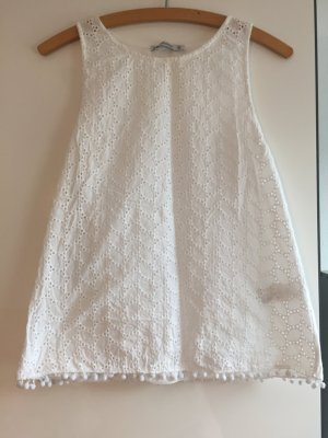 Pull & Bear Crochet Top white